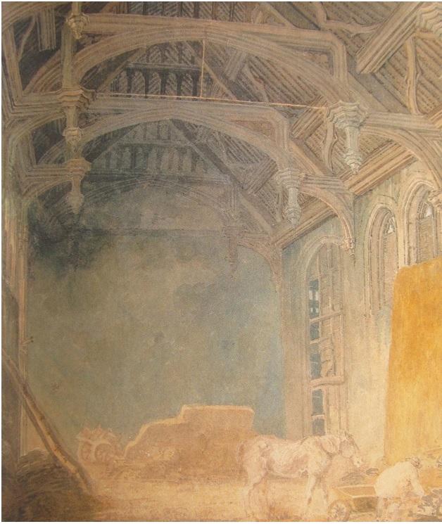 1: Interior of King John's Palace at Eltham.